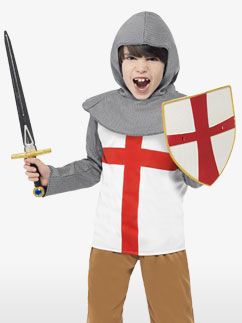 Horrible Histories Knight - Child Costume Fancy Dress