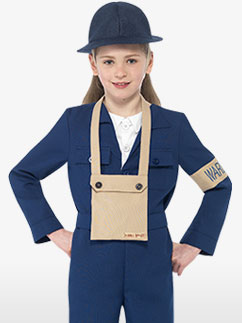Horrible Histories Air Warden - Child Costume Fancy Dress
