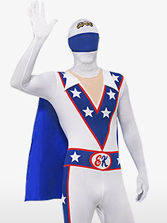 Evel Knievel Second Skin - Adult Costume Fancy Dress