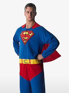 Superman Onesie - Adult Costume Fancy Dress