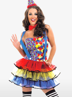 Cutie Clown - Adult Costume Fancy Dress