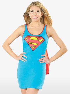 Supergirl Tank Dress - Adult Costume Fancy Dress