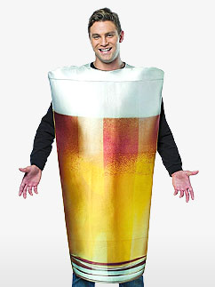 Get Real Beer Pint - Adult Costume Fancy Dress