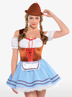 Oktoberfest Dirndl - Adult Costume Fancy Dress