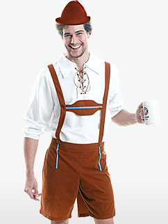 Oktoberfest Lederhosen - Adult Costume Fancy Dress