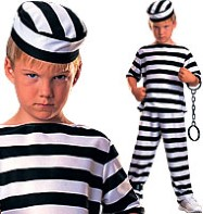 Prisoner Boy - Child Costume Fancy Dress