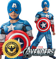 Deluxe Captain America - Child Costume