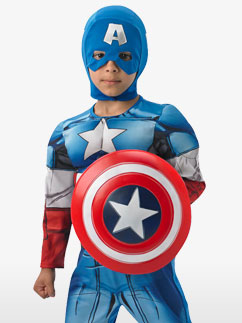 Deluxe Captain America - Child Costume Fancy Dress