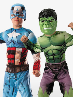 Deluxe Hulk to Captain America - Child Costume Fancy Dress