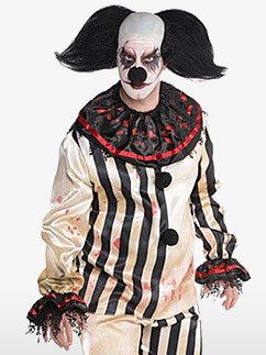 Scary Clown Costume - Adult Costume Fancy Dress
