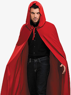 Hooded Red Cape - Adult Costume Fancy Dress