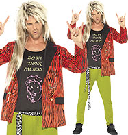 80's Rock Star - Adult Costume Fancy Dress