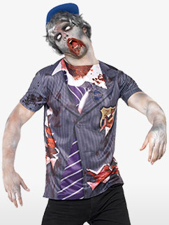Zombie School Boy - Adult Costume Fancy Dress