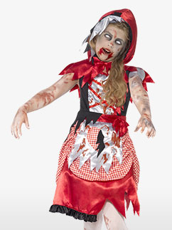 Zombie Miss Hood - Child Costume Fancy Dress