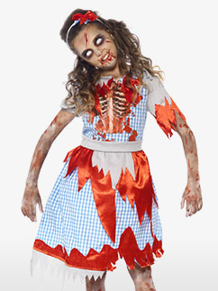 Zombie Country Girl - Child Costume Fancy Dress