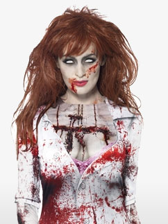 Zombie Female T-Shirt - Adult Costume Fancy Dress