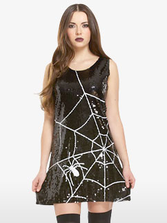 Sequin Spiderweb Dress