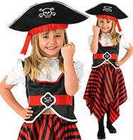 Girl Pirate - Child Costume Fancy Dress