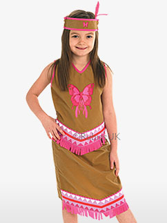 Indian Squaw - Child Costume Fancy Dress