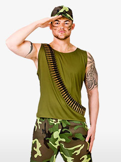 Army Guy - Adult Costume Fancy Dress