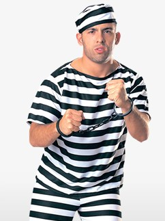Prisoner Man - Adult Costumes Fancy Dress
