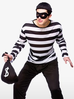Burglar - Adult Costume Fancy Dress