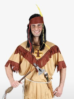 Native Indian - Adult Costume Fancy Dress