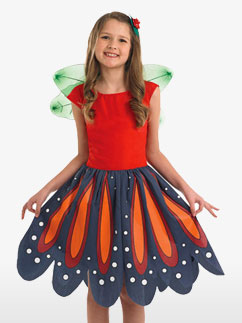 Red Woodland Fairy - Child Costume Fancy Dress