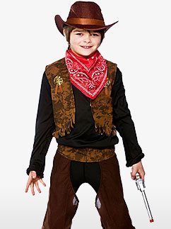 Wild West Cowboy - Child Costume Fancy Dress