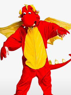 Deluxe Dragon - Child Costume Fancy Dress