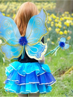Turquoise Sparkle Fairy Set - One Size Fancy Dress
