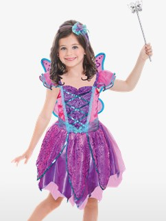 Purple Sparkle Fairy - Child Costume Fancy Dress