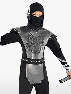 Howling Wolf Ninja - Child and Teen Costume Fancy Dress