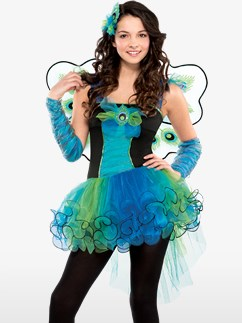 Peacock Diva - Child and Teen Costume Fancy Dress