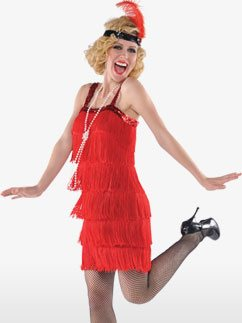 Red Flapper - Adult Costume Fancy Dress
