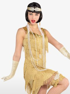 Champagne Flapper - Adult Costume Fancy Dress