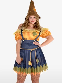 Sultry Scarecrow Plus Size - Adult Costume Fancy Dress