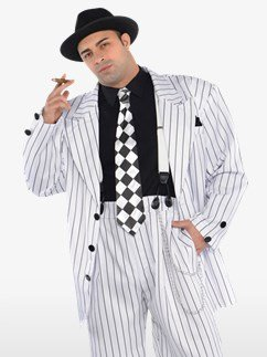 Pinstripe Daddy Plus Size - Adult Costume Fancy Dress