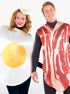 Breakfast Buddies Couple - Adult Costume Fancy Dress
