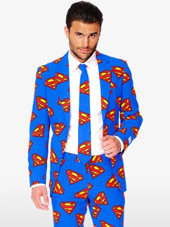 Superman Suit - Adult Costume Fancy Dress