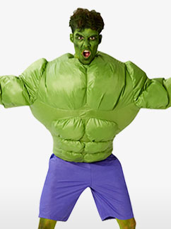 Inflatable Hulk - One Size Fancy Dress