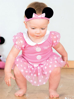 Minnie Mouse Pink Jersey Set - Infant Costume Fancy Dress