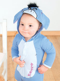 Eeyore Jersey Romper - Infant Costume Fancy Dress