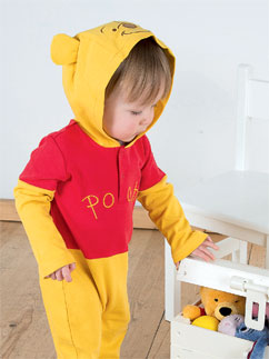 Winnie the Pooh Jersey Romper - Infant Costume Fancy Dress