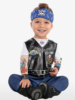 Baby Biker - Baby Costume Fancy Dress