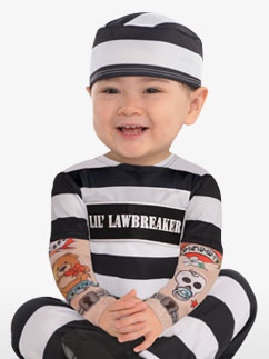 Lil' Law Breaker - Baby Costume Fancy Dress