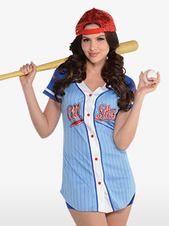 Baseball Babe - Adult Costume Fancy Dress