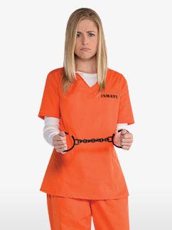 Orange Inmate - Adult Costume Fancy Dress