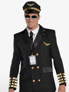 Captain Wingman - Adult Costume Fancy Dress