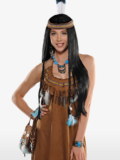 Native American Dress - Adult Costume Fancy Dress